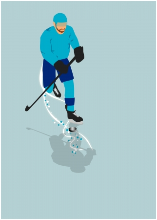 ice hockey sport poster or flyer background with space photo