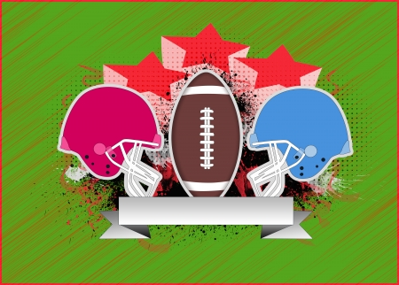 super bowl: American football sport poster Stock Photo