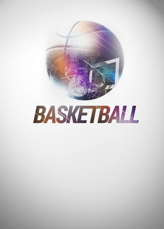 backgraound: Baketball sport invitation poster or flyer backgraound with space Stock Photo