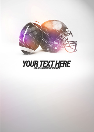 Abstract american football invitation advert background with empty space