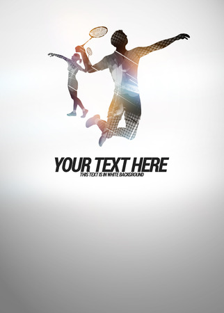 Badminton sport invitation poster or flyer backgraound with empty space
