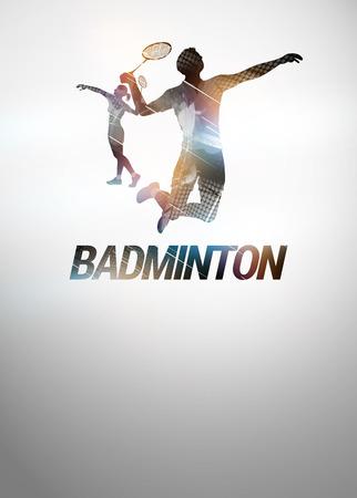 배드민턴 스포츠 초대 포스터 또는 빈 공간 우대 backgraound 스톡 콘텐츠