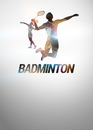 backgraound: Badminton sport invitation poster or flyer backgraound with empty space
