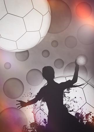 Handball-Mädchen Spiel Einladungsplakat oder Flyer Hintergrund mit Raum Standard-Bild
