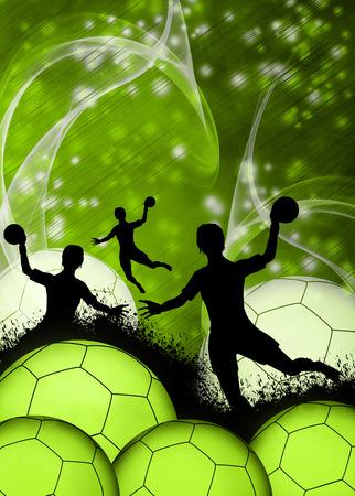 Handball-Mädchen Spiel Einladungsplakat oder Flyer Hintergrund mit Raum