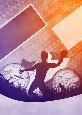 Handball Spiel Mann Einladungsplakat oder Flyer Hintergrund mit Raum