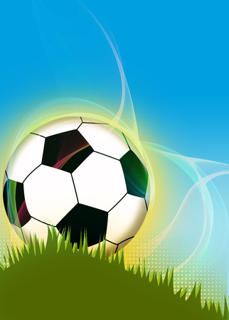 Abstract soccer or football background with empty space photo