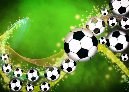 Abstract soccer or football background with empty space Reklamní fotografie