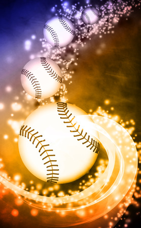 baseball stadium: Baseball invitation poster or flyer abstract background with empty space Stock Photo