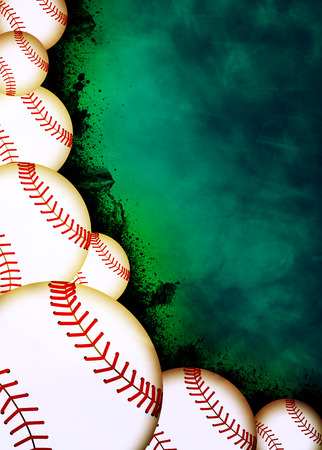 Baseball invitation poster or flyer abstract background with empty space Stock Photo