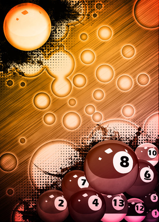 Abstract billiard invitation advert background with empty space photo