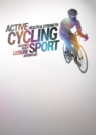 Cycling invitation poster photo