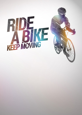 keep fit: Cycling invitation poster