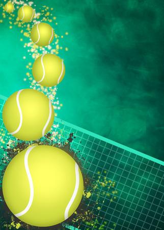tennis racket: Resumen de tenis de fondo anuncio invitación con el espacio vacío