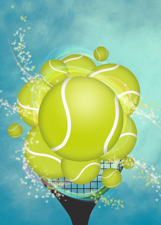 Abstract tennis invitation advert background with empty space photo