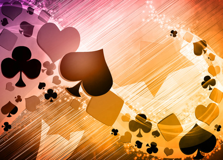 Abstract casino and poker invitation advert background with empty space