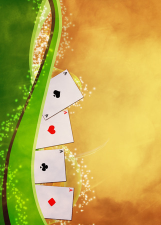casino tokens: Abstract casino and poker invitation advert background with empty space