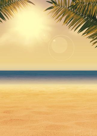 Zomer vakantie, reizen, party advertentie poster of flyer achtergrond met lege ruimte Stockfoto - 27610819