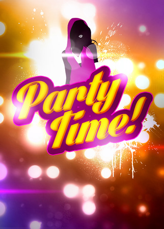 Party time invitation advert background with empty space photo