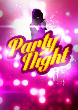 Party night invitation advert background with empty space photo