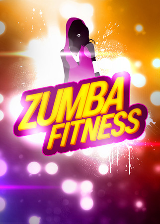 Zumba fitness training invitation advert background with empty space