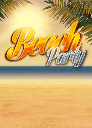 Summer holiday, travel, party advert poster or flyer background with empty space