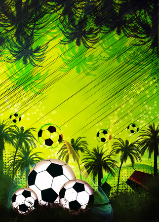 Football or soccer invitation poster, flyer and other advert background with empty space photo