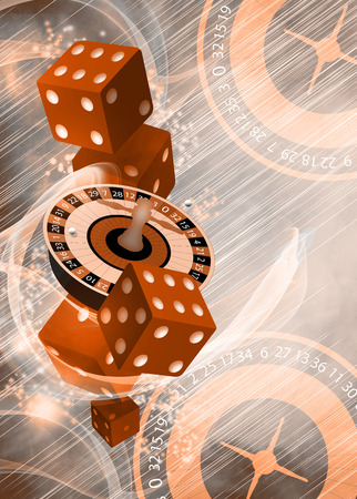 Casino roulette invitation poster, flyer and other advert background with empty space photo