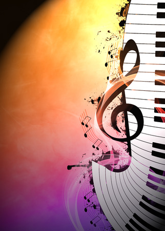 klavier: Abstrakte Musik Nacht Anzeige oder Konzert Einladung Hintergrund mit leeren Raum Lizenzfreie Bilder