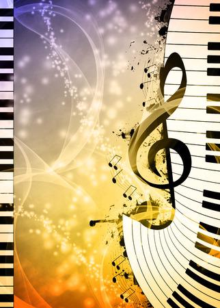 抽象音乐夜或音乐会邀请广告背景与空的空间