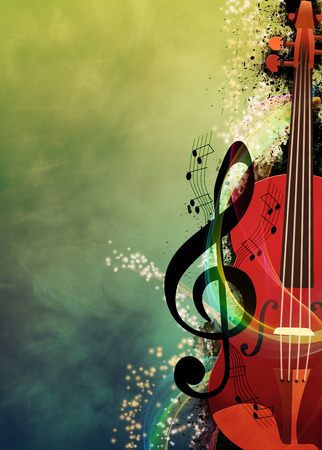 Abstracte muziek nacht of uitnodiging concert advertentie achtergrond met lege ruimte Stockfoto