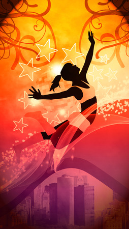 Dance, hip-hop or fitness invitation advert background with\ empty space