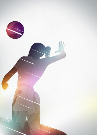 pelota de voley: Deporte Voleibol fondo anuncio invitaci�n con el espacio vac�o Foto de archivo