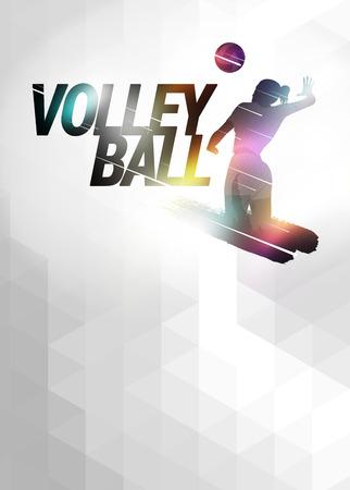 volleyball ball: Deporte Voleibol fondo anuncio invitación con el espacio vacío Foto de archivo