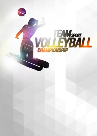 Volleyball sport invitation advert background with empty space Stock Photo