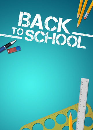 school frame: Back to school advert background with empty space