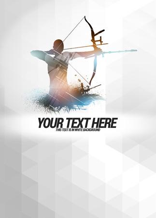 archery: Archery sport invitation advert background with empty space Stock Photo
