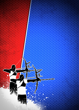 bowman: Archery sport invitation advert background with empty space Stock Photo