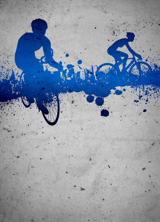 mountain bicycling: Cycling invitation poster, flyer other advert background with empty space