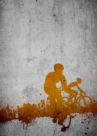 Cycling invitation poster, flyer other advert background with empty space