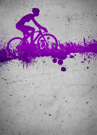 Cycling invitation poster, flyer other advert background with empty space photo