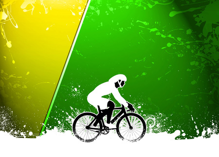 keep fit: Cycling invitation poster, flyer other advert background with empty space