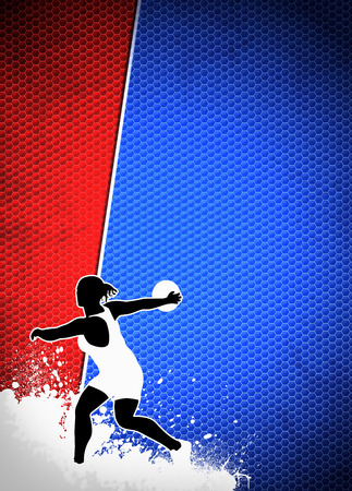 Discus Throw sport invitation advert background with empty space photo