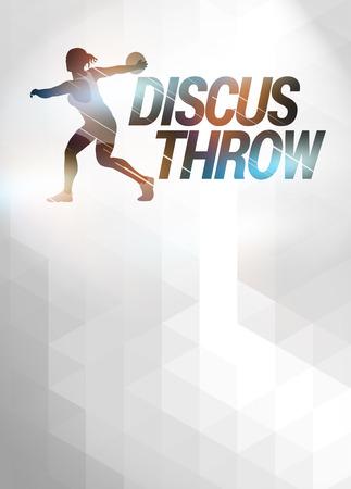 lanzamiento de disco: Discus Throw deporte fondo anuncio invitación con el espacio vacío