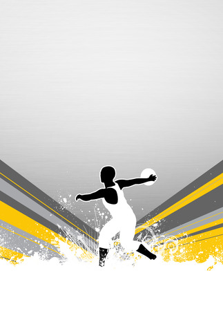 discus: Discus Throw sport invitation advert background with empty space Stock Photo