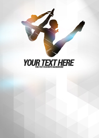 muscle formation: High diving sport invitation advert background with empty space