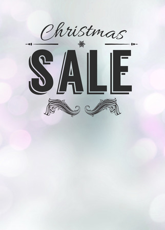 Advent or christmas offer and sale advert poster or flyer background with empty space photo