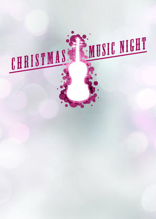 Advent or christmas concert invitation poster or flyer background with empty space photo