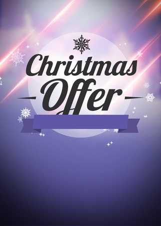 Winter or christmas offer and sale advert poster or flyer background with empty space photo