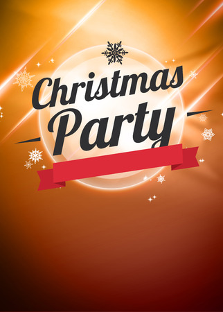 Christmas party invitation poster or flyer background with empty space
